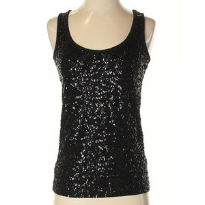 J.CREW EUC Sequined Night Out Tank Top Blouse